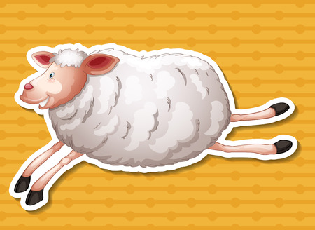 country side: Illustration of a close up sheep running