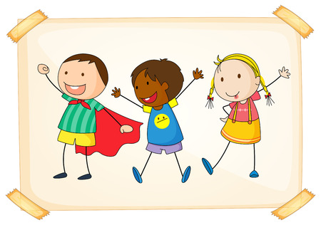 Illustration of many children Vector