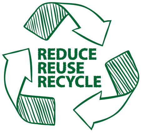 Illustration of recycling sign Vector