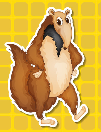 Illustration of an ant eater with background Vector