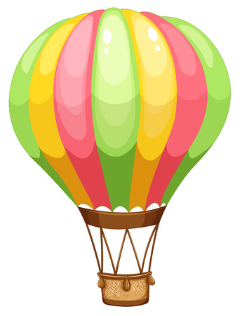 hot: Illustration of a close up hot air balloon