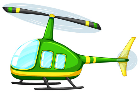 helicopter rescue: Illustration of a close up helicopter