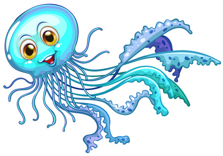 jelly fish: Illustration of a close up jelly fish Illustration