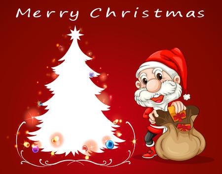 Illustration of a christmas card Vector