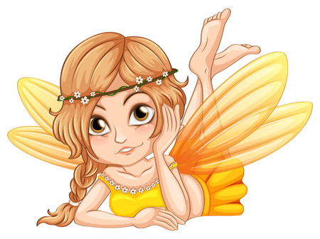 fictional character: Illustration of a close up fairy Illustration