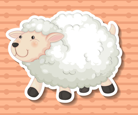 cartoon sheep: Illustration of a close up sheep