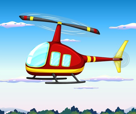 helicopter rescue: Illustration of a helicopter flying in the sky Illustration