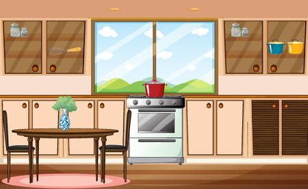 Illustration of a classic pantry Vector