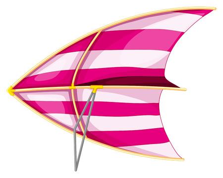 gliding: Illustration of a close up hang glider