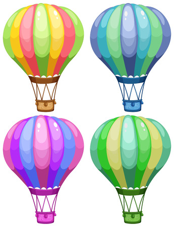 Illustration of a set of balloons Vector
