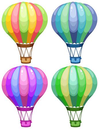 Ilustración de un conjunto de globos