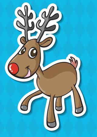 northpole: illustration of a close up deer Illustration