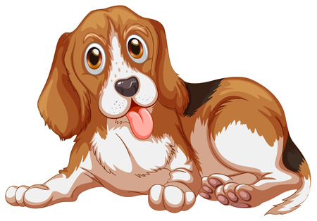 illustration of a close up dog Vector