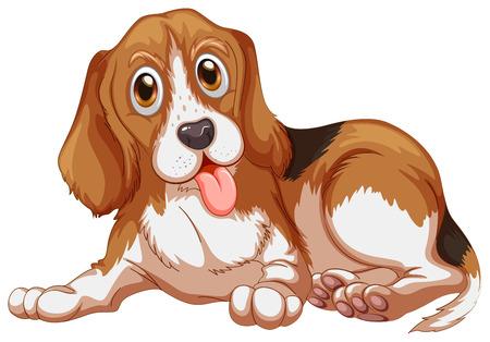 beagle: illustration of a close up dog Illustration