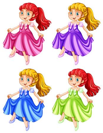 fictional character: illustration of many princess