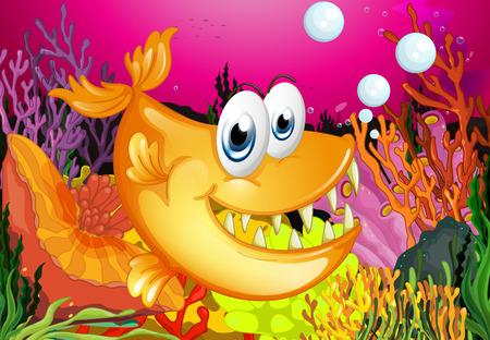 물고기 수영의 그림
