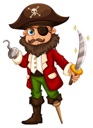 eyepatch: illustration of a close up pirate