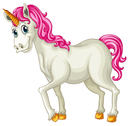 illustration of a close up unicorn Vector