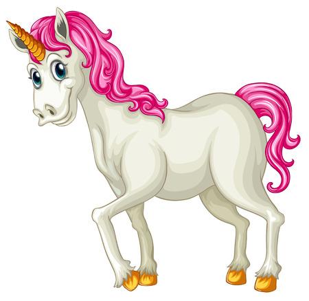 illustration of a close up unicorn