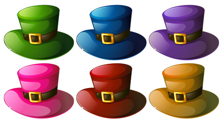 colo: illustration of different colo hats