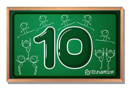 numero diez: ilustración de un número de tarjeta de memoria flash de diez