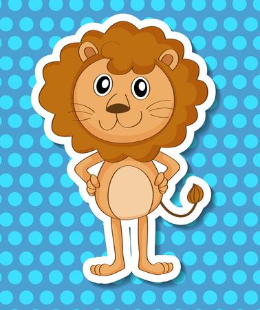 endangered: illustration of a close up lion