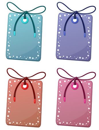 illustration of different color tags Vector