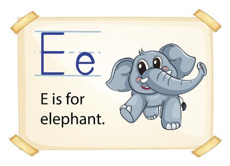 phonetic: Illustration of e for elephant