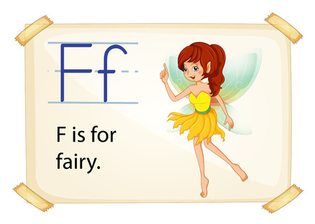 phonetic: illustration of a flashcard letter F for fairy