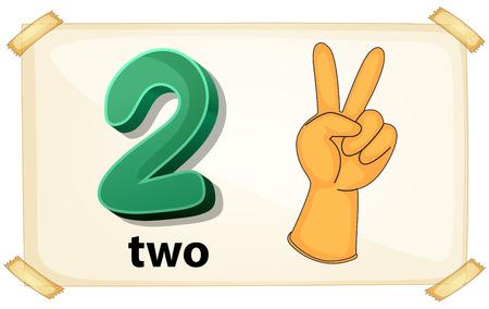 フラッシュ カード番号 2 つのイラスト