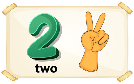 illustration of a flashcard number two