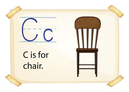 Illustration of c for chair Vector