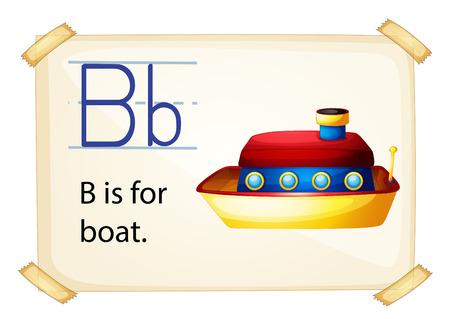 phonetic: Illustration of b for boat