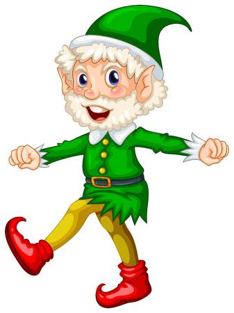 illustration of a close up elf Vector