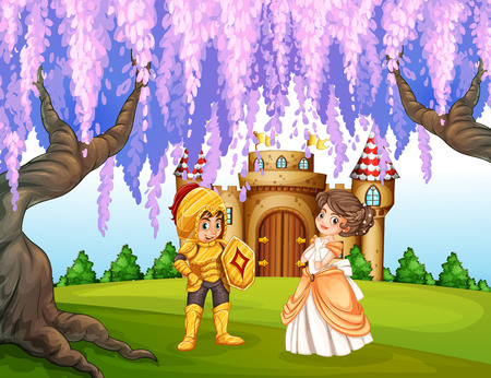 fairy costume: illustration of a knight and a princess