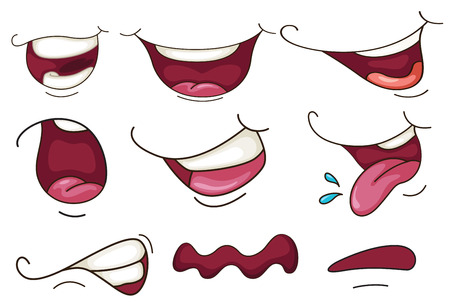 illustration of a set of mouth