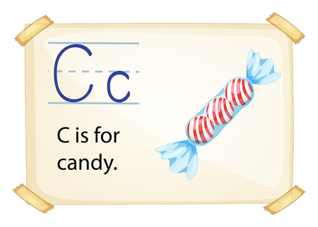 phonetic: Illustration of c for candy