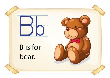 phonetic: Illustration of b for bear