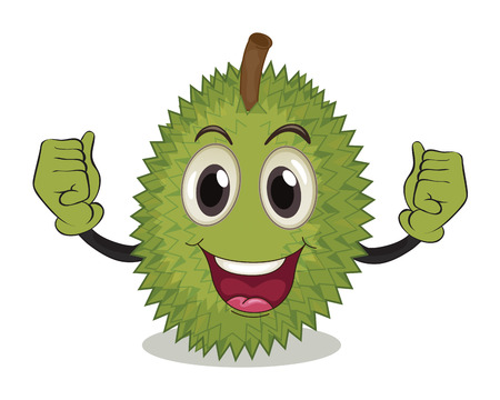 illustration of a durian with arms Vector