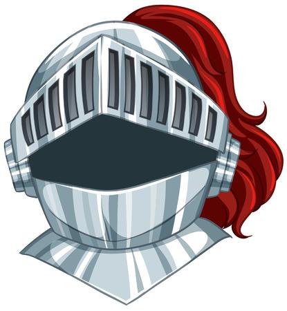 Illustration of a knight helmet