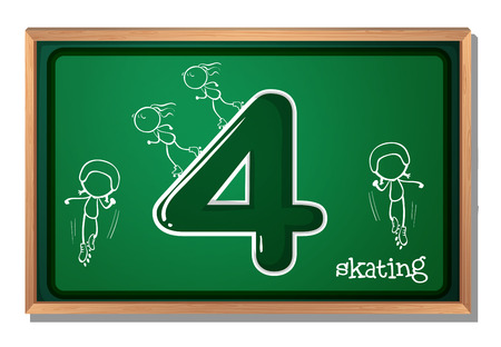 numeracy: Skaters around the number 4