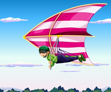 glider: Hang glider flying in sky