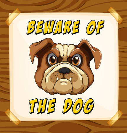 Beware of the dog poster Vector