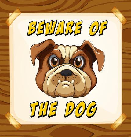 perro furioso: Cuidado con el cartel de perro