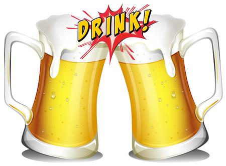 음료 플래시 아이콘과 맥주