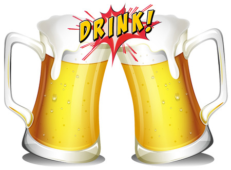 Beers with drink flash icon Illustration