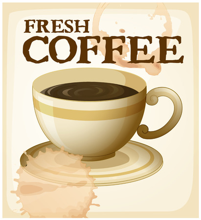 brewed: Fresh brewed coffee poster with text