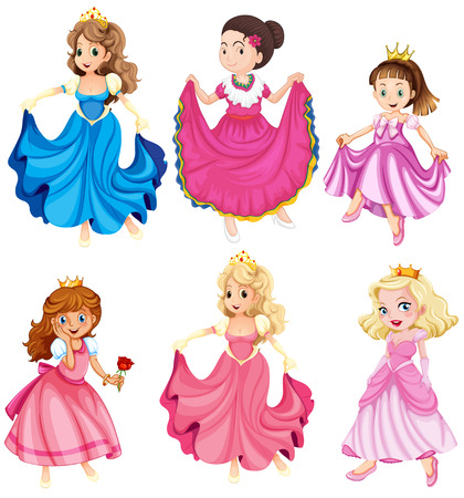 Princesses and queens in gowns
