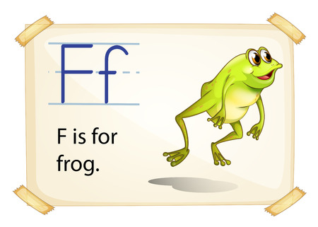 Frog flashcard poster with letters Vector