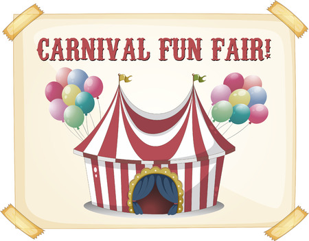 big top tent: Retro style carnival tent poster Illustration